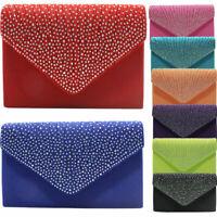 Women's Envelope Shoulder Handbag Clutch Evening Wedding Party Banquet Bag purse