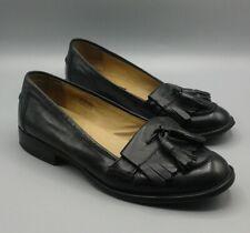 806367da234 STEVEN by MADDEN - COYISHH - Black leather Tassel Fringe Loafers - sz 8.5 -  EUC