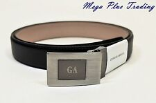 Authentic Giorgio Armani Saffiano Leather Belt Black GA3436, 26-44 inch