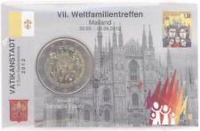 2 euro coincard/info mapa vaticano 2012 mundo reunión familiar