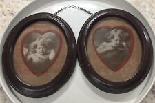 Antique Framed Pictures of Cupie Awake and Cupie Asleep Copyright 1897