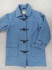 LL Bean Classic Wool Blend Duffel Toggle Coat (Womens Medium) Blue