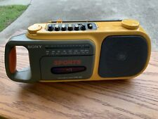 Vintage Sony Waterproof CFM-104 SPORTS Tape player Recorder AM/FM BOOMBOX