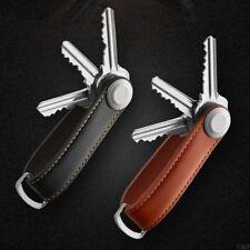 Compact Genuine Leather Key Wallet Key Holder Organizer Keyring Key Chain Pouch
