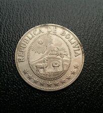 Bolivia 1974 1 un peso Boliviano nickel plated coin