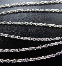 """925 STERLING SILVER 16"""" 1.5mm rope chain necklace for pendant -D407"""