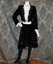 """""""FRENCH"""" COLONIAL STYLE OUTFIT:  Vintage Black Velvet 3 Piece Suit / Outfit"""