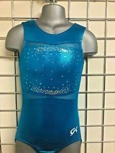 "GK  Turquoise Shimmer Leotard in  lycra - 24"" - CS  (A25)"