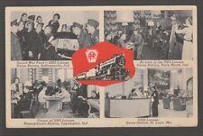 [50371] 1945 Postcard Pennsylvania Railroad Uso Lounges In Indiana & Missouri