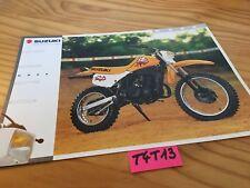 Suzuki DS80 DS 80 80DS prospectus moto brochure publicité prospekt