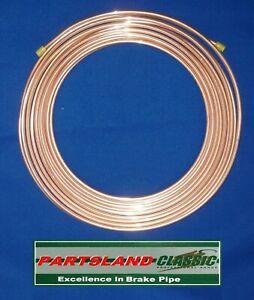 """BS EN12449 Kunifer Copper Nickel Brake Pipe 3/16"""" (4.76mm) x 25ft (7.62mt) Reel"""