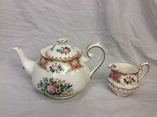 Beautiful Royal Albert Lady Carlyle Teapot Plus Creamer