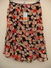 BNWT New KAREN MILLEN Size UK 8 SILK Polka Dot Spotted SKIRT Pink Red Black Tan