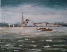 Venezia su tela 50x70 dipinto a mano Original italy oil painting