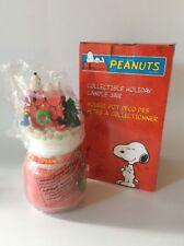 "Snoopy, Peanuts, CANDLE W/ JAR, NIP, Vintage, 8"""