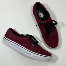 New listing VANS OFF THE WALL Classic Canvas Burgundy Skate Shoes Size Mens 8.5 Womens 10