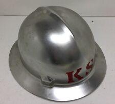 Vintage Full Brim Jackson Quality Products Aluminum Hard Hat w/Liner USA Nice