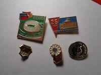 Set of 5 Vintage USSR soviet enamel pin badge original 51
