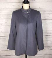 Lafayette 148 Women's Size 6 Jacket Blazer Gray Wool Cashmere Lined One Button