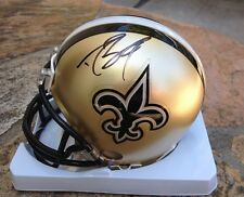 *DREW BREES*SIGNED*AUTOGRAPHED*NEW ORLEANS*SAINTS*MINI*HELMET*PSA/DNA*FOOTBALL*