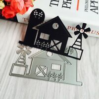 House Cutting Dies Stencil for DIY Scrapbooking Embossing Album Paper Card Craft