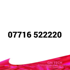 07716 522220 EASY MOBILE NUMBER PAY AS YOU GO SIM CARD UK GOLD PLATINUM VIP