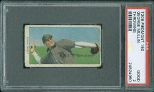 1910 T206 George Mullin Throwing PSA 2 (4950) Piedmont 150