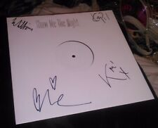 SIGNED WHITE LABEL MYSTERY JETS SHOW ME THE NIGHT NEW 12 INCH VINYL RECORD