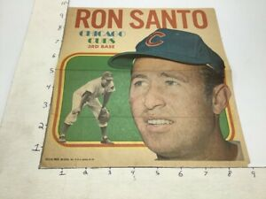 1970 Topps Pin-Ups Poster #5 of 24; RON SANTO chicago cubs 3rd base