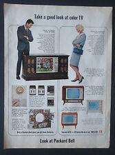 Packard Bell Color TV 1966 Original Vintage Print Ad