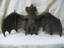 Big Creepy Flying Vampire Bat Hanging Haunted Halloween Prop Giant Over 2' Wide