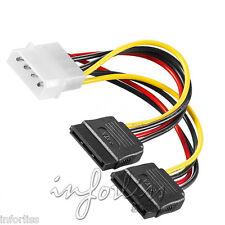Cable alimentacion duplicador 1 macho IDE a 2 hembras SATA disco duro serial ata