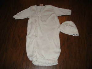 BOUTIQUE PIXIE LILY NEWBORN NB 3-6 GOWN AND HAT OUTFIT SET