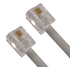 RJ11 Cable / Lead, Crossover wiring, for use with Amercian modems, Male-Male 10M