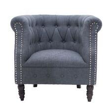Chaises gris moderne en tissu pour la maison