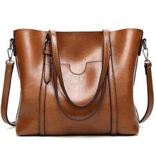 Women Bag Oil Wax Leather Luxury Lady Handbag With Purse Pocket Messenger Tote