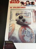 Star Wars 32 Valentines Day Cards NEW Disney The Last Jedi 8 Cool Designs