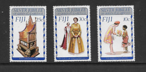 1977 FIJI - SILVER JUBILEE - COMPLETE SET OF THREE - NEVER HINGED MINT.