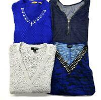 Wholesale Bulk Women's Plus Size 1X Mixed Various Brands Blouses & Tops Lot of 4
