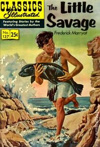 Classics Illustrated 137 The Little Savage #7 VF 1970 Stock Image