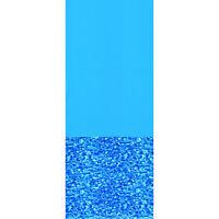Swimline 18 Foot Swirl Blue Round Above Ground Swimming Pool Wall Overlap Liner