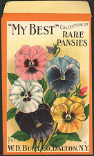 *Original* MY BEST RARE PANSIES COLLECTION Flower SEED Pack Packet Large 5 x 9