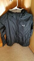 Under Armour UA Women's Heatgear Rain Jacket Black Medium Style 1235348 EUC