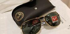 Ray Ban New 58mm Gunmetal Aviator Sunglasses