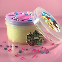 "DIY SLIME ""CHEF KITTIES CRUNCHY CAKE"" White Glue BUTTER Slushie Scent 6 8 oz"