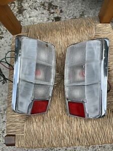 Classic Mini Pair of Clear Rear Lights complete with Lenses and Units