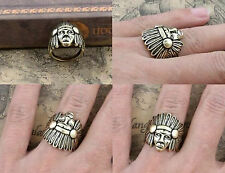 2pcs New Design Dainty Indian Chief Ring, Indian Jewelry, Indien Chief Ring