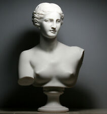 APHRODITE Goddess Venus de Milo Bust Head Greek Cast Marble Sculpture 12.6 in