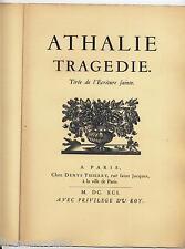 Athalie tragédie Les bibliolatres de France 1946 exemplaire numeroté nominatif