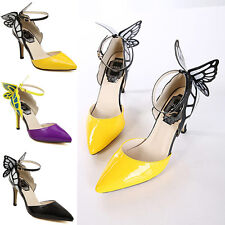 WOMENS SHOES LADIES BUTTERFLY PARTY EVENING HIGH HEELS STILETTO UK SIZES 2-7